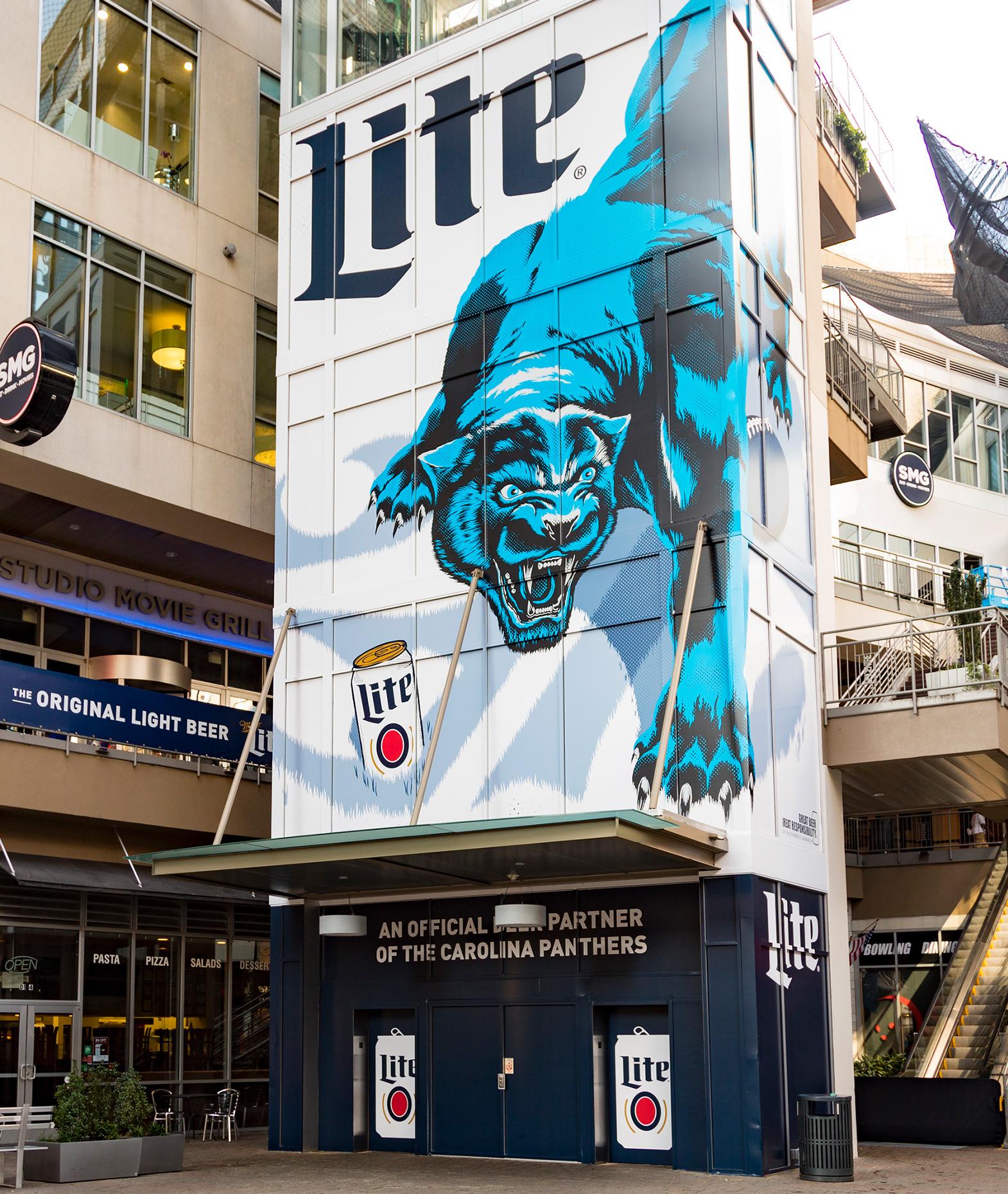 Miller Lite NFL Illustration Campaign