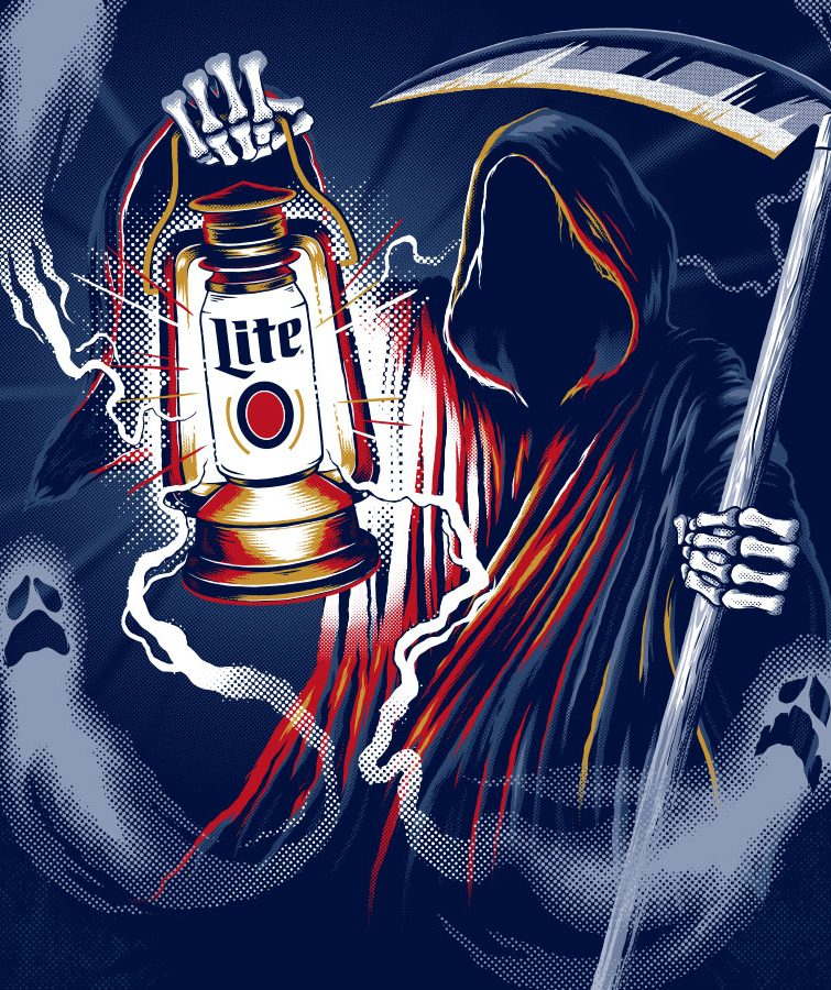 Miller Lite Brand Illustrations